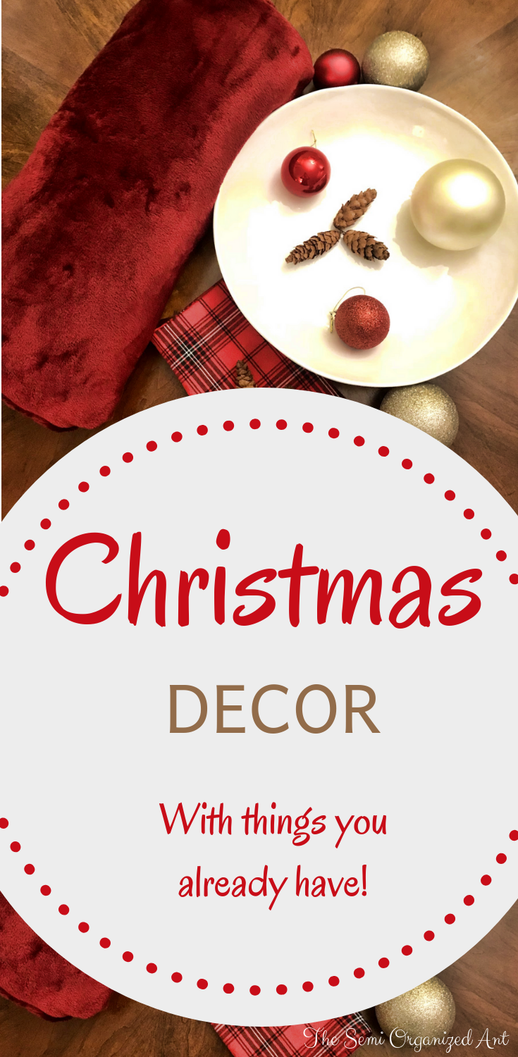 Here are a few budget-friendly Christmas decor ideas! Easy to create using what you already have at home