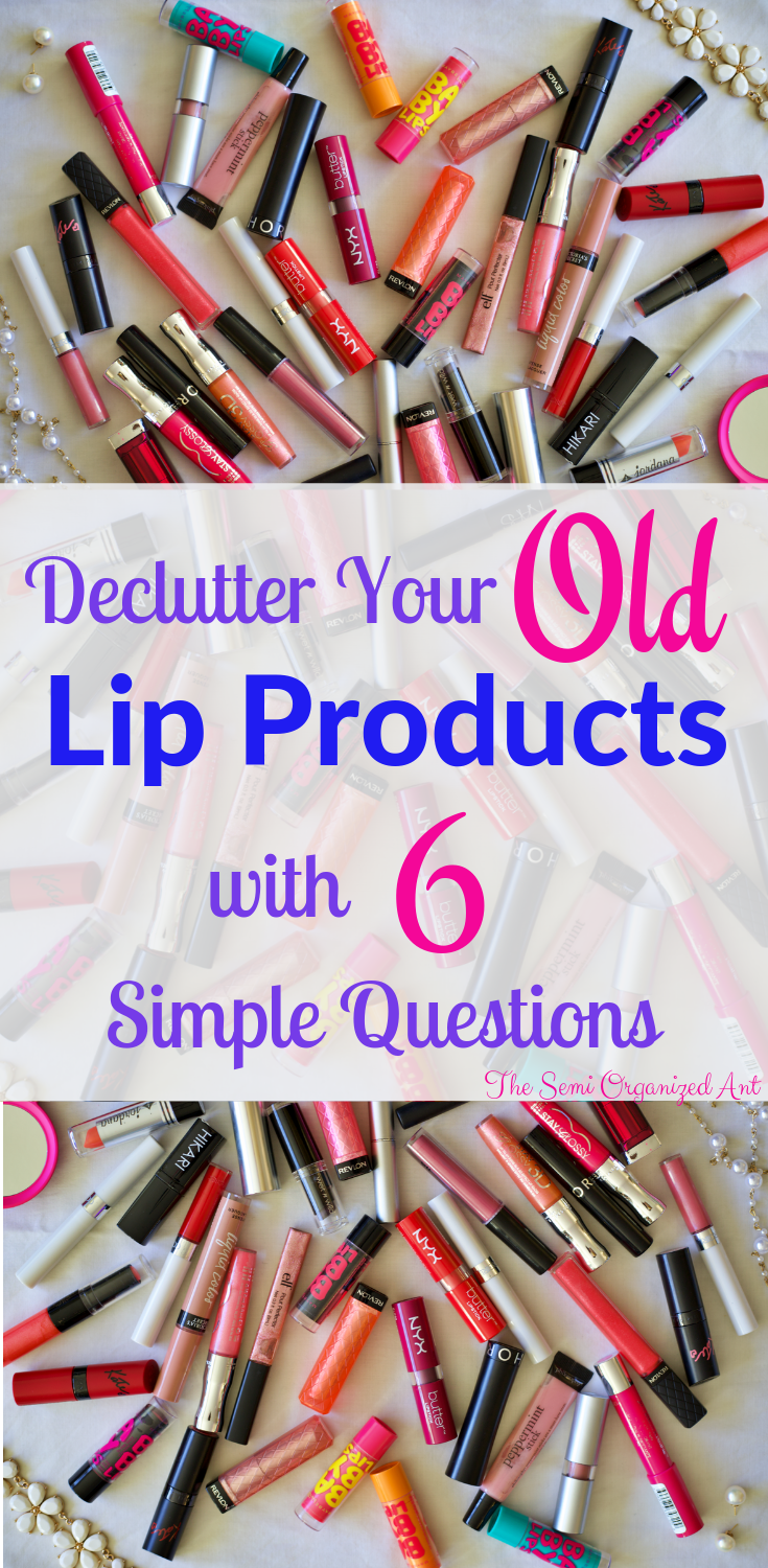 Declutter your lip products with the help of a few simple questions