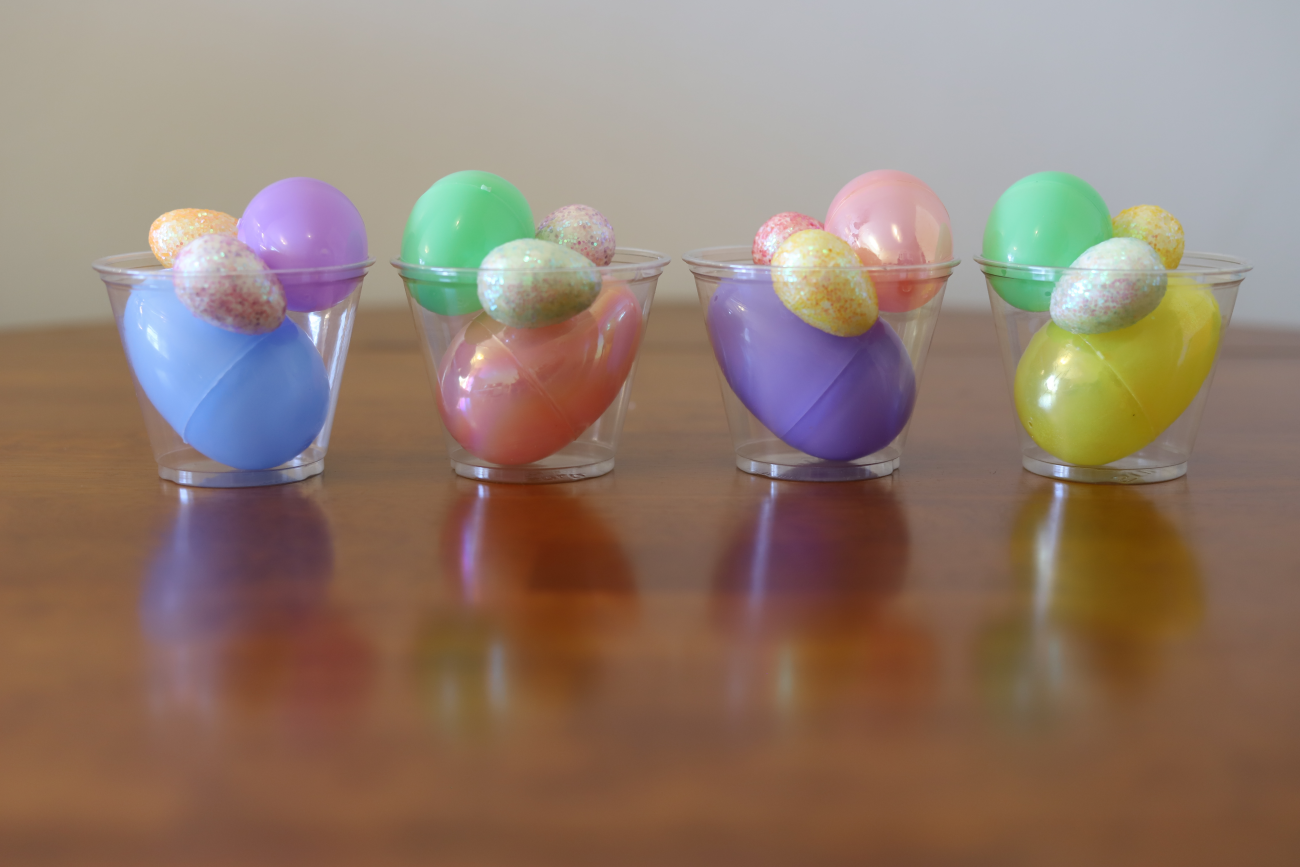 Easter Centerpiece, plastic eggs
