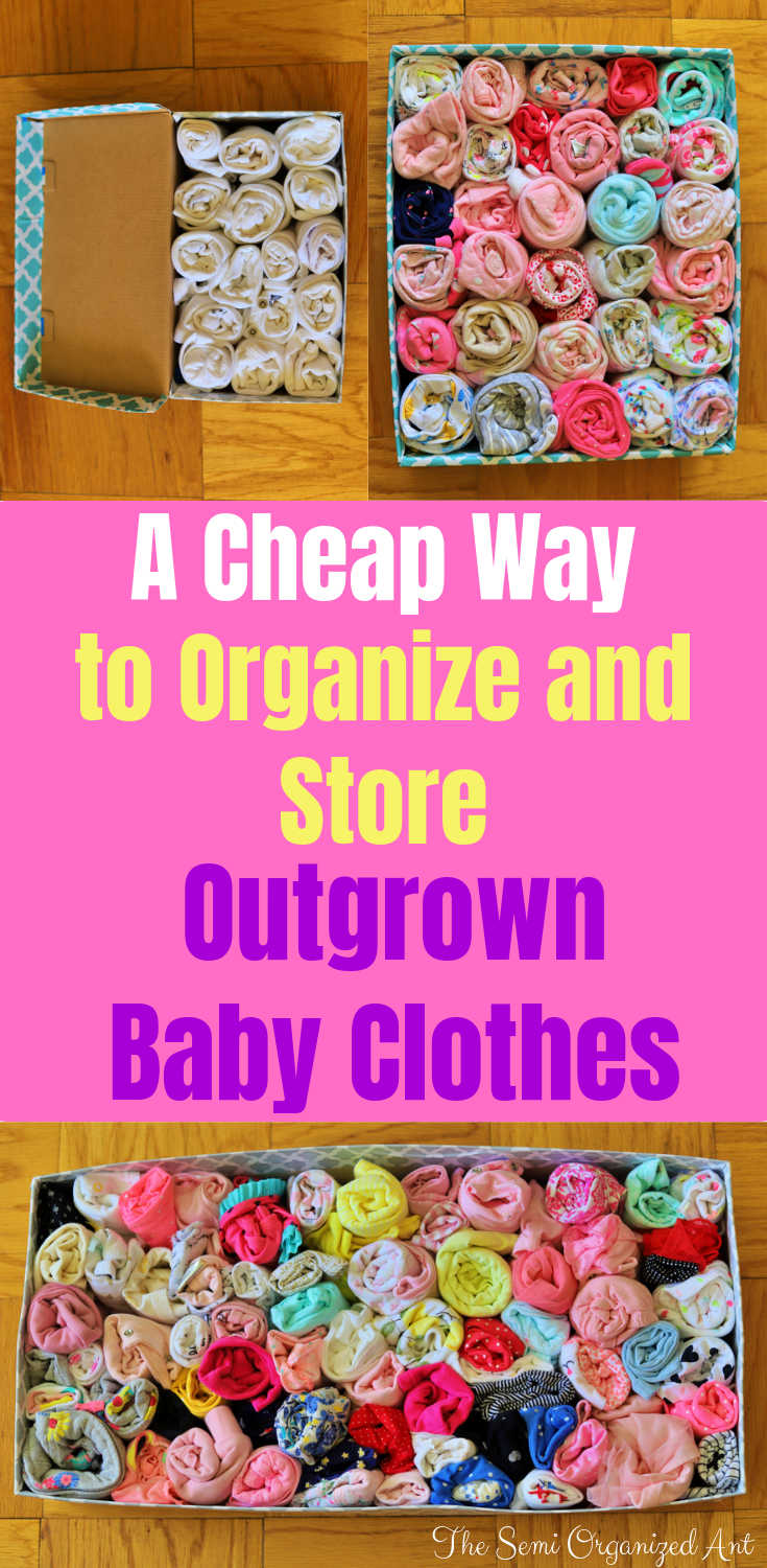 Storage and organization for outgrown baby cloth