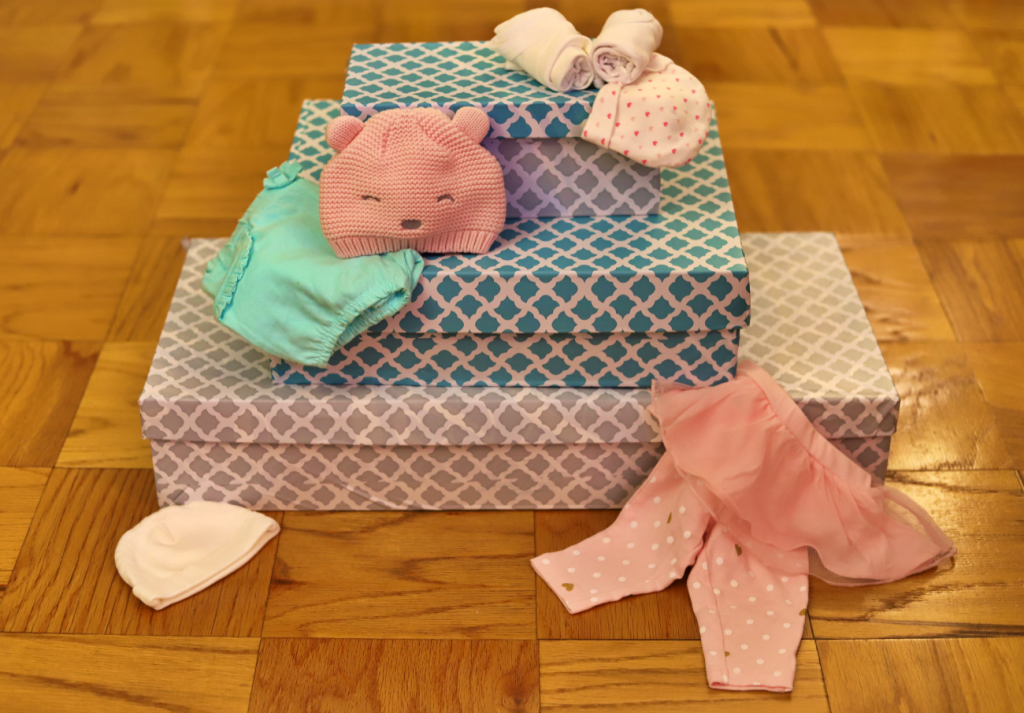 A Cheap Way to Organize and Store Outgrown Baby Clothes (0-9 months)