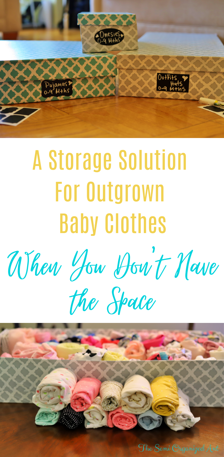How to Store Outgrown Baby Clothes - The Semi Organized Ant