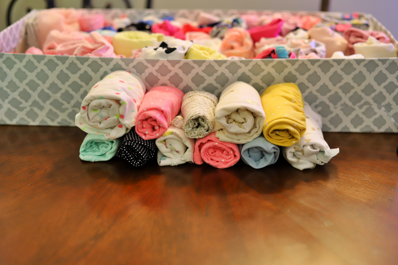 A Cheap Way to Organize and Store Outgrown Baby Clothes