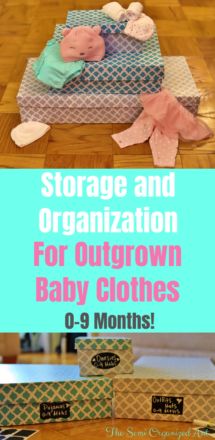 A Cheap Way to Organize and Store Outgrown Baby Clothes (0-9 months) - The Semi Organized Ant