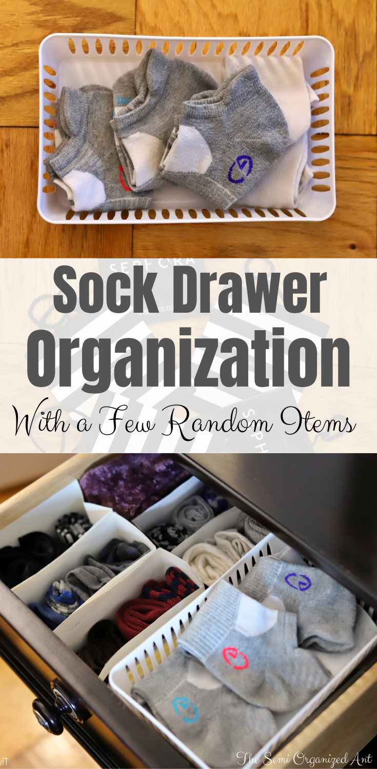 Organized Sock Drawer - with a Few Random Items - The Semi Organized Ant