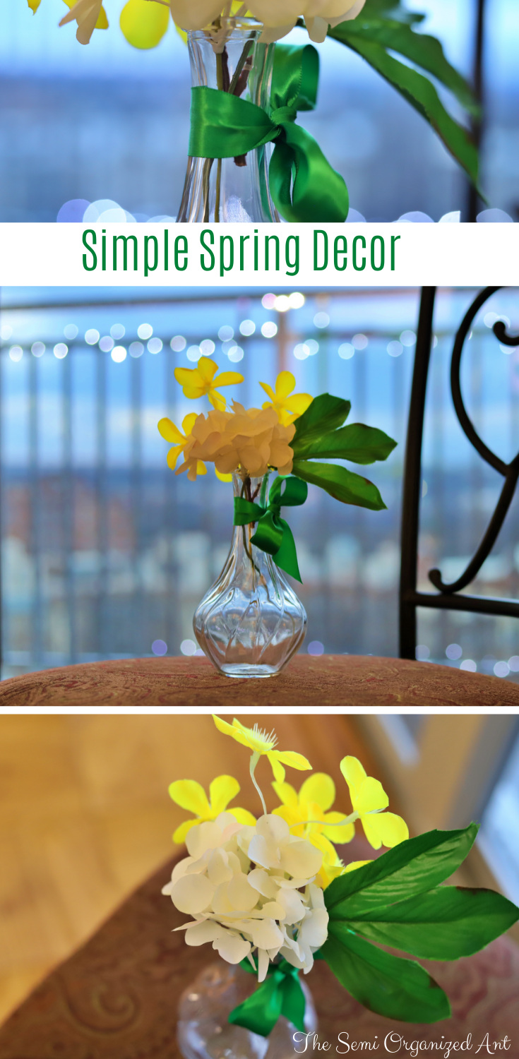 Simple Spring Floral Decor with Items You May Already Have-The Semi Organized Ant