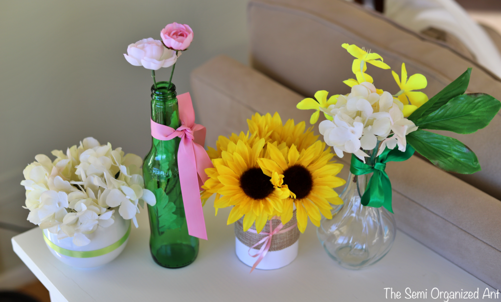 Simple Spring Floral Decor with Items You May Already Have