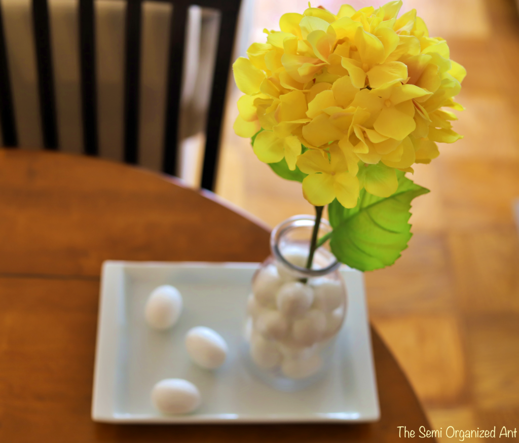 Easy Topiary Style Easter Centerpiece