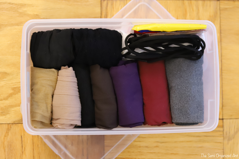 Organized Sock Drawer - with a Few Random Items - The Semi Organized Ant