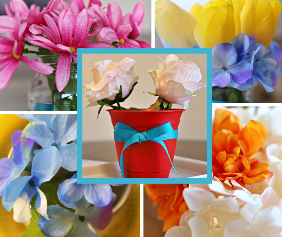 Colorful Summer Home Decor with Faux Flowers (Simple and Easy to Make)