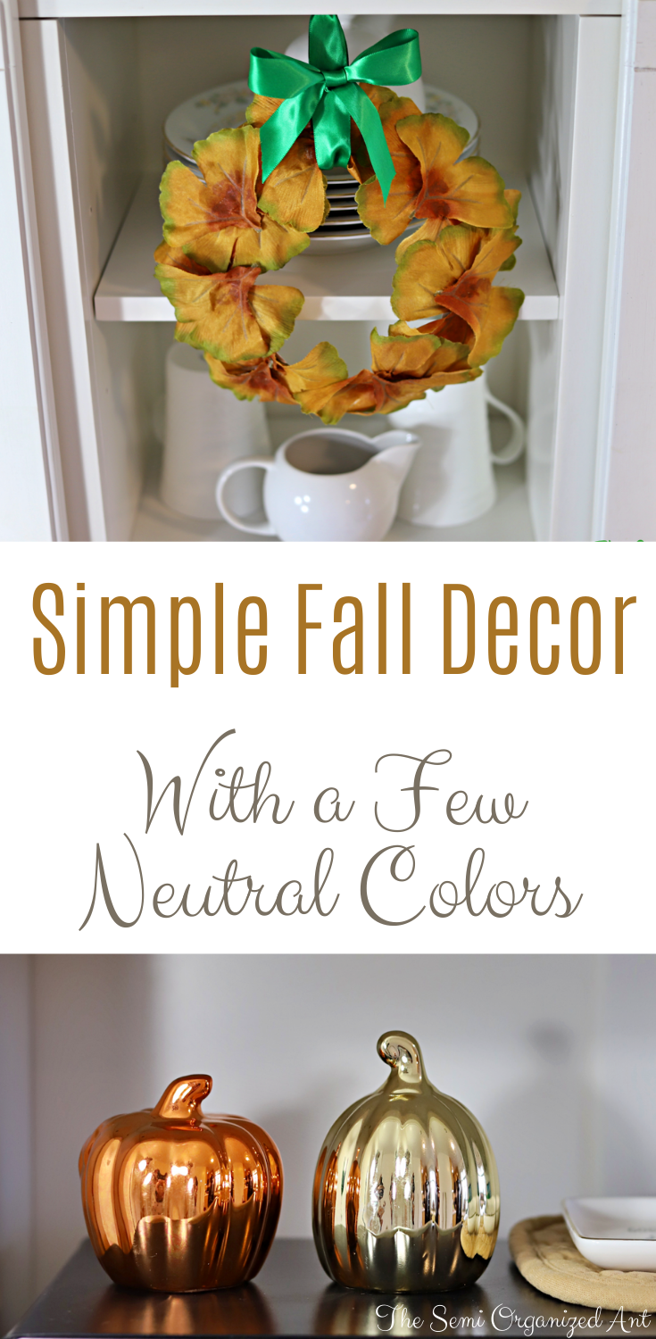 Simple Fall Decor With a Few Neutral Colors - The Semi Organized Ant