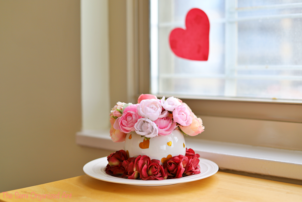 Valentine's Day Centerpiece – Using Items I Already Have